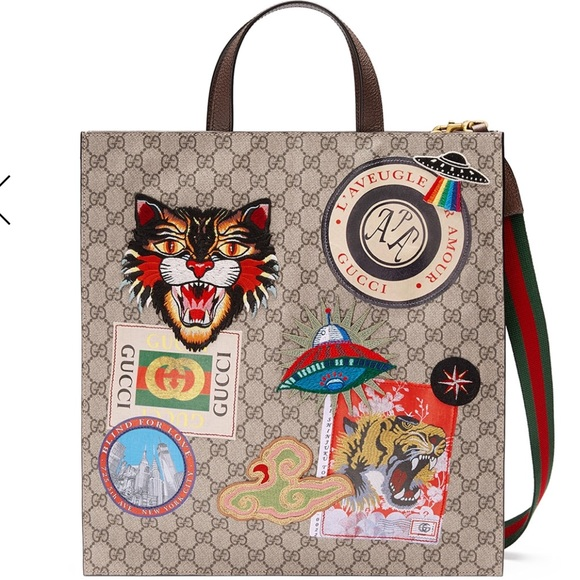 4879709d88 Gucci Courier Soft GG Supreme Tote Bag NWT NWT